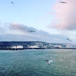 #sunday #dover #england #sea #clouds #seagulls #travel (presso Dover,England UK)