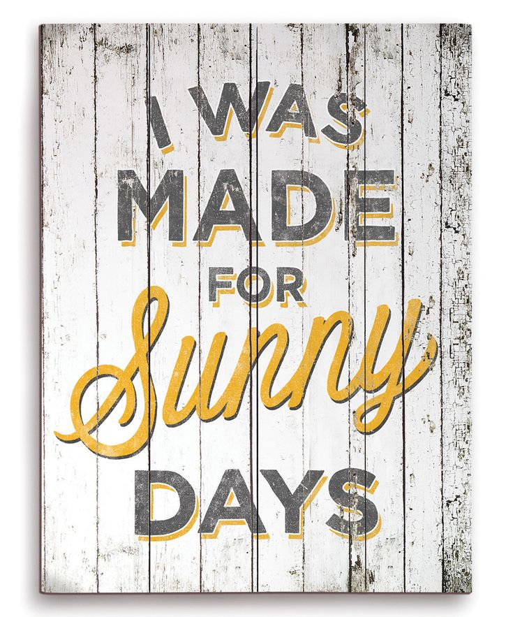 Hope your day is full of sunshine. (And do you know this song by The Weepies? Raise your hand if you do. Love it.)