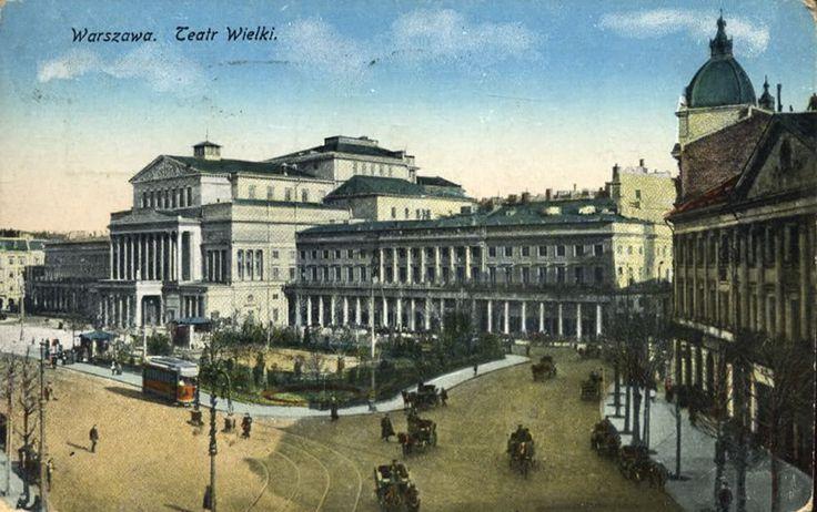 Teatr Wielki w Warszawie, pocztówka z 1916 roku