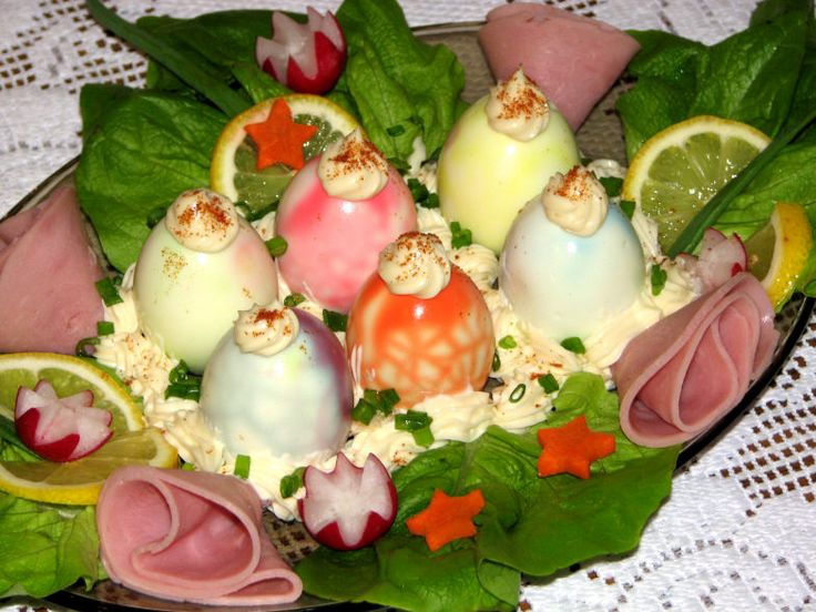 Kolorowe jajka na twardo