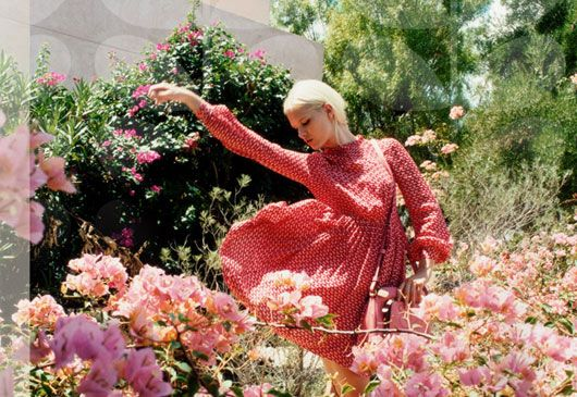 Orla Kiely Spring Summer 2013 / sfgirlbybay: Orla Kiely, Lookbook Photographers, Palms Spring, Fashion Photography, Gardens Parties, 2013 Campaigns, Flower, Kiely Ss13, Kiely Spring
