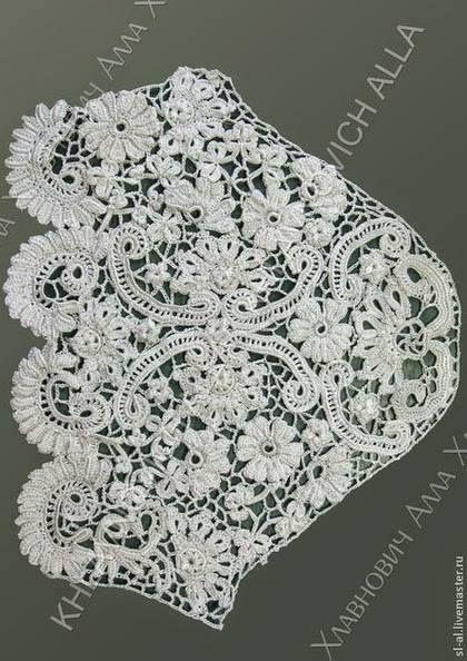 Letras e Artes da Lalá: Blusa de crochê irlandês (www.pinterest.com)