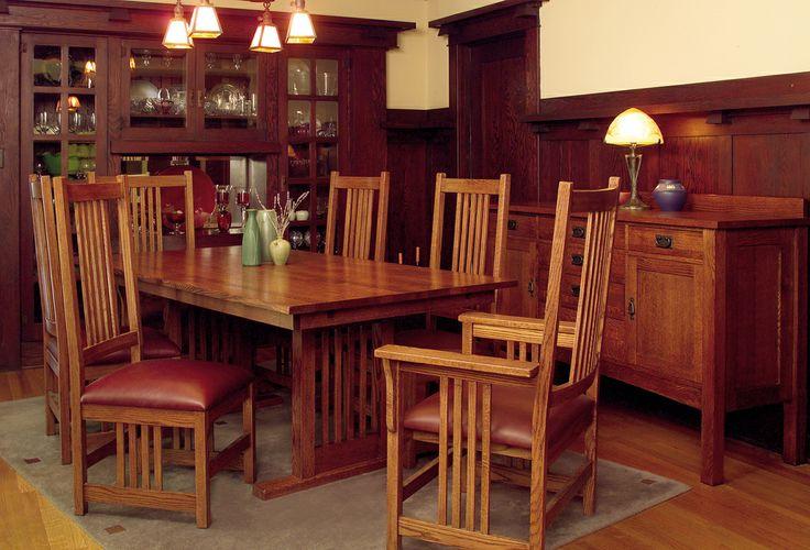 american-craftsman-grand-dining-set | Furniture & Bedroom & Outdoor Furniture & Kitchen & Office Furniture
