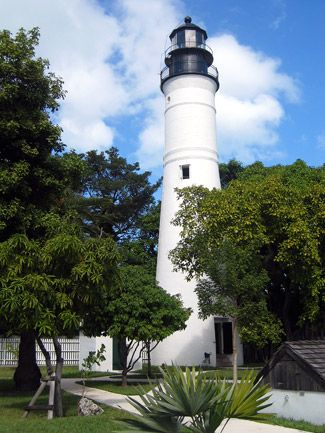 Key West Lighthouse (1848), Key West, FL The first Key West lighthouse was built in 1826, and remained in active duty for about 20 years when a hurricane washed it away. The new Key West lighthouse was to be built on higher ground at a different location.