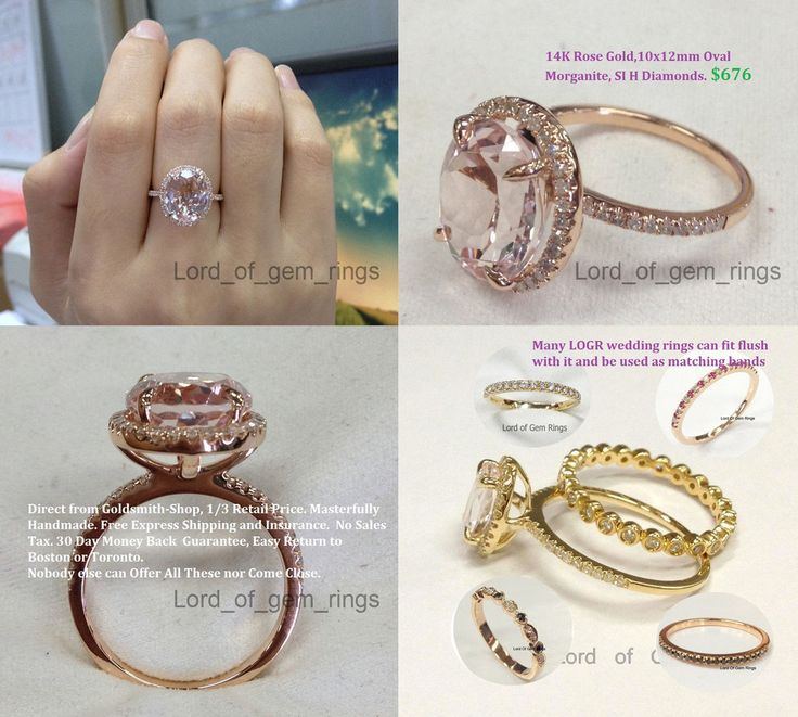 Fresh Reserved for Rebecca Oval Pink Morganite Engagement Ring Pave Diamond Wedding Rose Gold Lord of Gem Rings