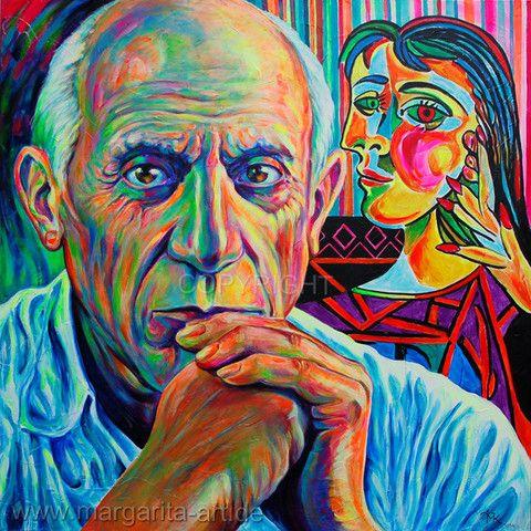 Margarita Kriebitzsch - Pablo Picasso mit seiner Muse | KUNST-ONLINE
