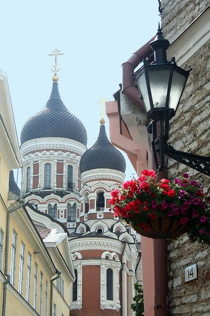 Old town - Tallinn. Mixpot of different historical periods and cultures.