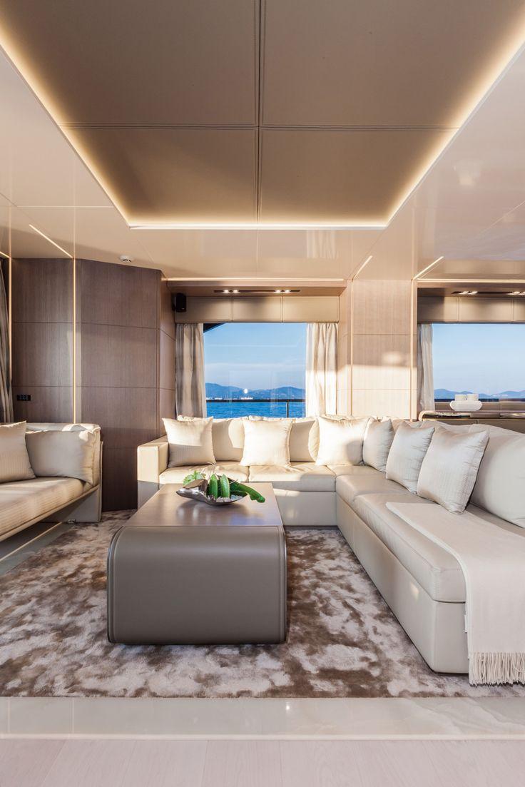Luxury superyacht keyla interior by hot lab luxury yacht charter - Dreamline 26 Main Salon Dl Yachts Dreamline
