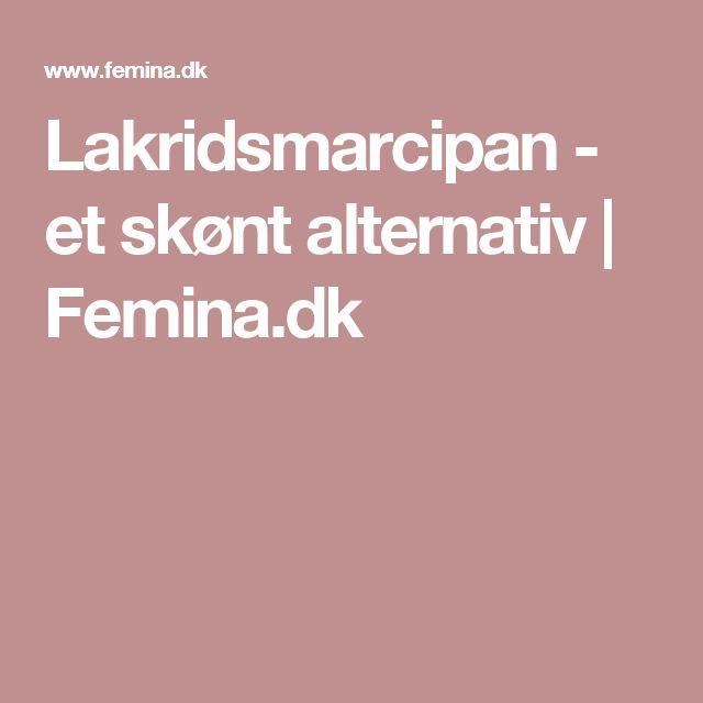 Lakridsmarcipan - et skønt alternativ | Femina.dk