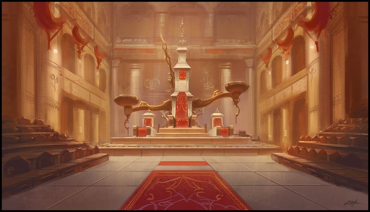 Throne room by Zoriy.deviantart.com on @deviantART (Barbarian Palace)