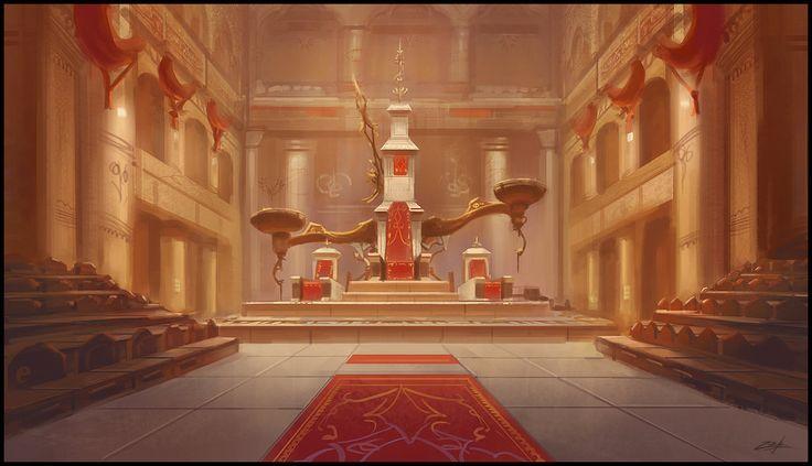 Throne room by Zoriy.deviantart.com on @deviantART (Barbarian Palace)
