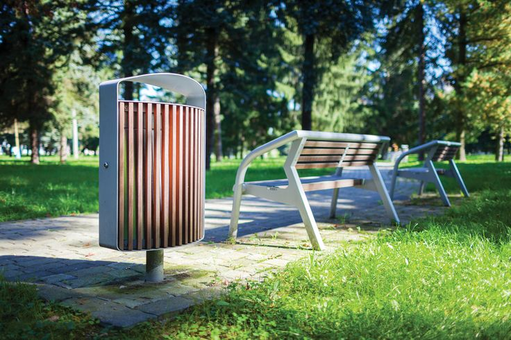 LENA by mmcité Products from this range demonstrate that the need for large volume litter bins does not necessarily exclude a stylish and modern design. The uniform base structure formed by a thick steel sheet ring raised over the terrain by a tube leg brings high resistance and easy installation even in hillside localities. Various type sof sheathing also enable adjusting the appearance to its locality. The result isa universal litter bin whose design and structure can beautify any…
