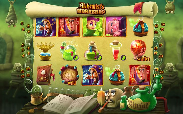 Alchemist's Workshop – social casino slots game on Behance