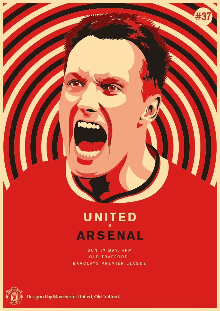 Match poster: Manchester United vs Arsenal, 17 May 2015. Designed by @manutd.