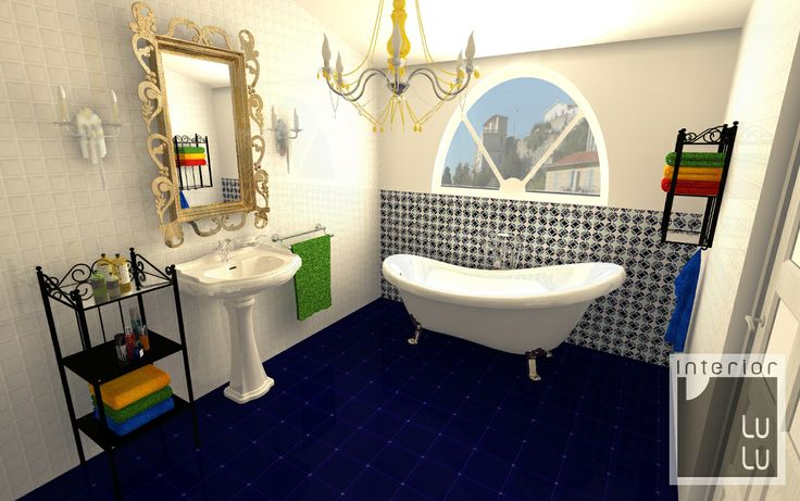 Kolorowa łazienka elegancka