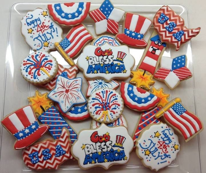 1000+ Images About Patriotic Decorated Cookies And Cake