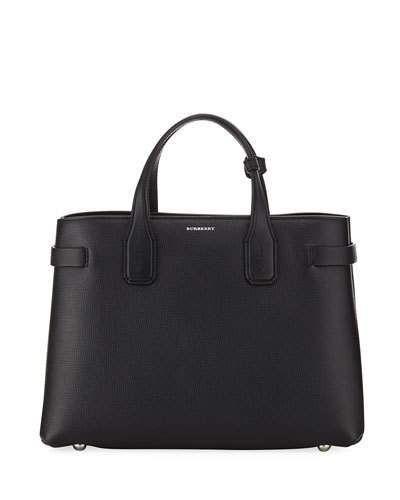 eef6615c73e0 Banner Medium Derby Leather Tote Bag  Open belted shoulder