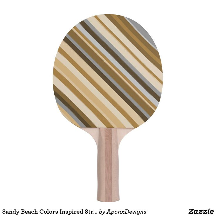Sandy Beach Colors Inspired Striped Pattern Paddle
