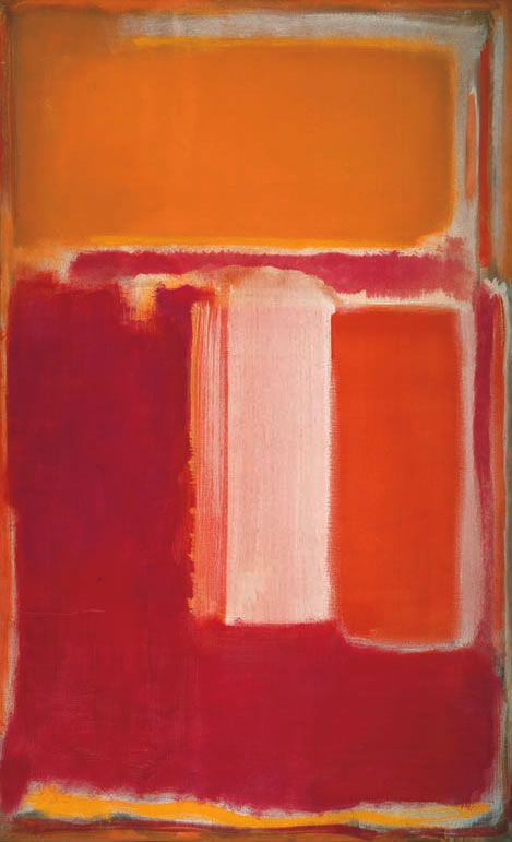 Yellow, Cherry, Orange Artist: Mark Rothko Completion Date: 1947 Style: Color Field Painting Genre: abstract Technique: oil on canvas Dimensions: 173 x 107 cm
