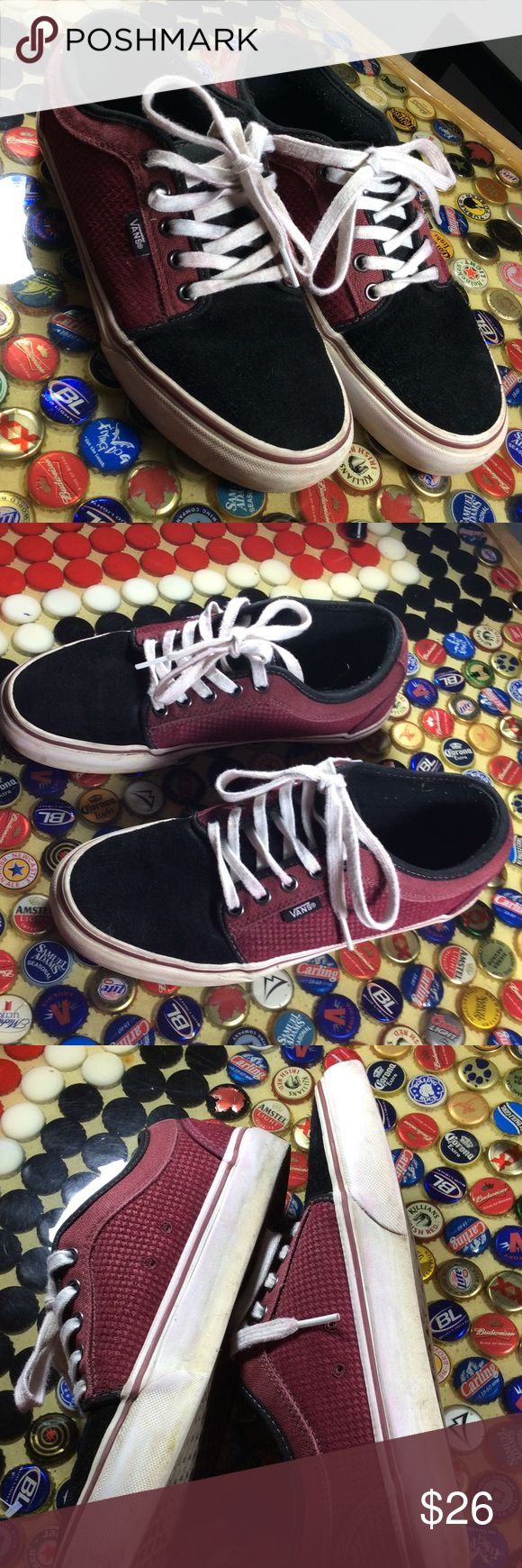 Vans Mens leather shoes size 7 Vans  Men's leather upper. Has minor wear for Preowned, but in very good condition,. Men's size 7. Vans Shoes Athletic Shoes