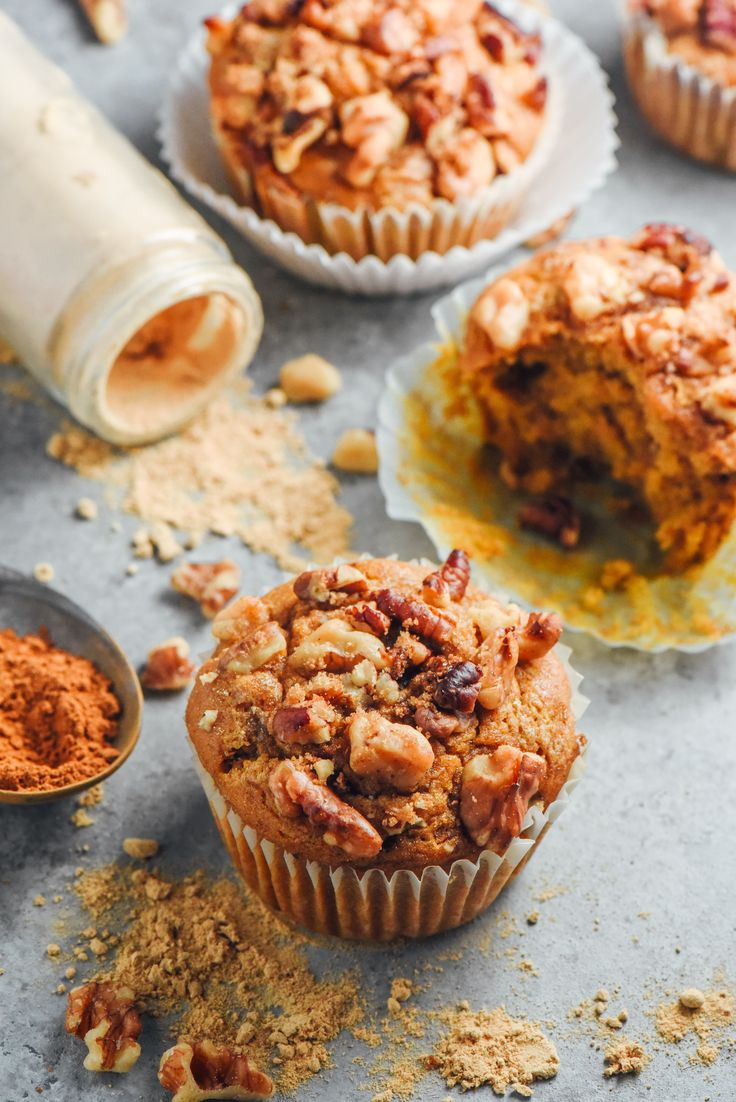Best-Ever Vegan Pumpkin Spice Muffins- I've never tasted a vegan muffin that was so identical to the real thing! Fluffy, full of fall flavors, and only 180 calories each.
