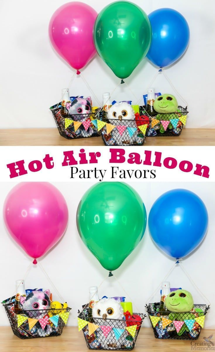 Up Up And Away Hot Air Balloon Party Favors Air Balloon Decoration Decorations Favo Hot Air Balloon Party Favors Hot Air Balloon Party Party Balloons