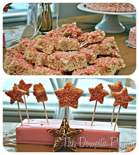 Star-shaped Rice Krispie pops - The Domestic Project