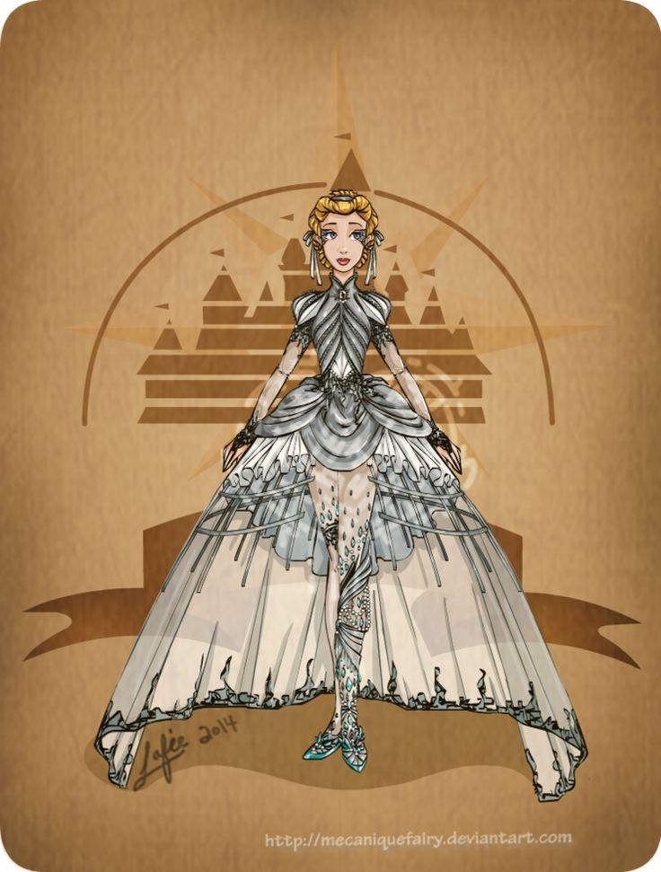 disney_steampunk cinderella by mecaniquefairy