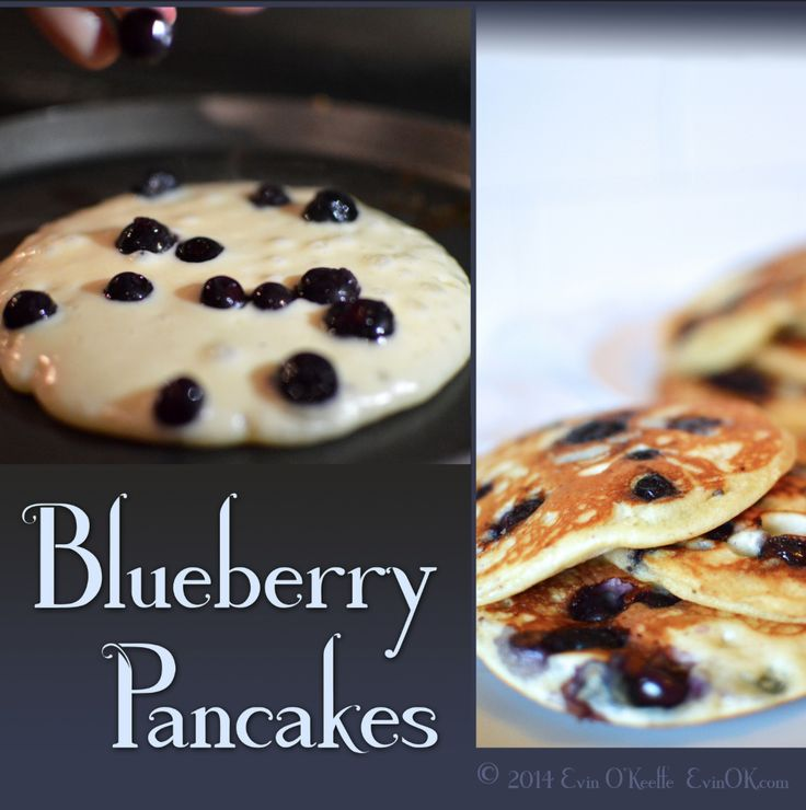 Blueberry Buttermilk Pancake recipe, vegetarian Broccoli Frittata recipe, and tutorial on hand-painted porcelain plates (or hand-drawn on paper plates), plus more family brunch ideas: evinok.com/?p=7798