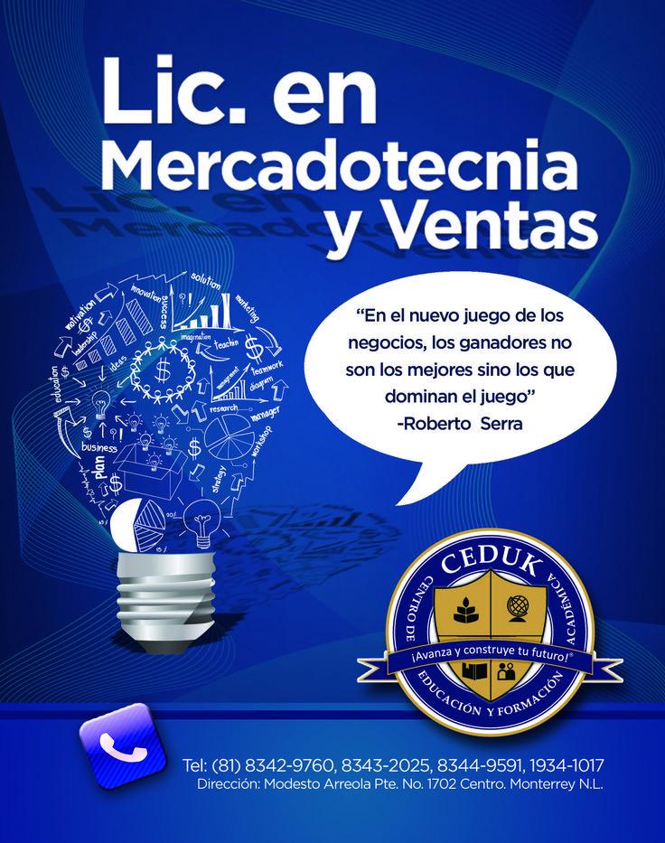 Licenciatura en Mercadotecnia y Ventas