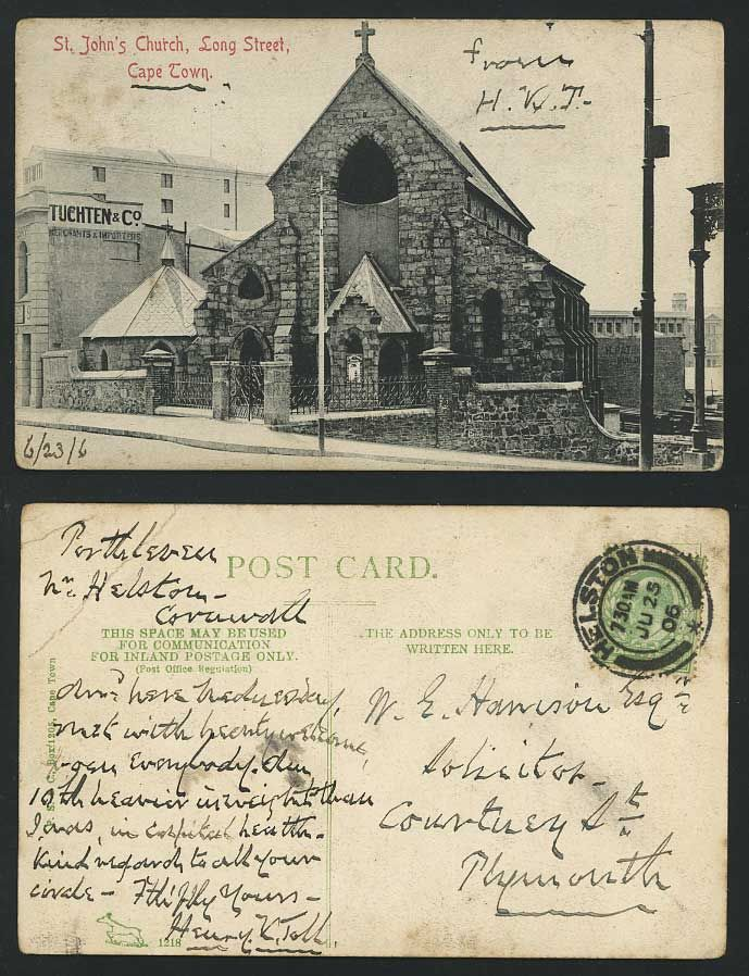 ST JOHNS CHURCH Long Street 1906