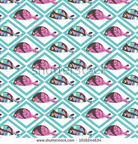 Abstract fish vector image design