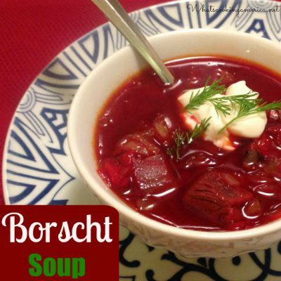 With this cold weather, this hearty Ukrainian Borscht Soup is delightful. My 5-year old declared it tasty.
