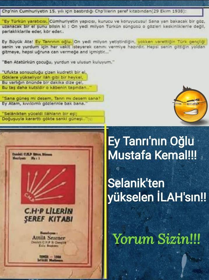 CHP'li putperest kefere kemalitlerden ŞİRK Atatürk mason sabatayist