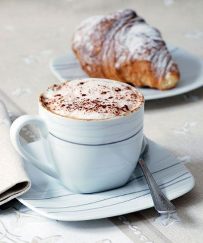 cafe au lait, croissant....I can't wait to eat this everyday in Paris!