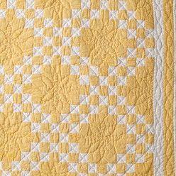 Irish chain in yellow & white