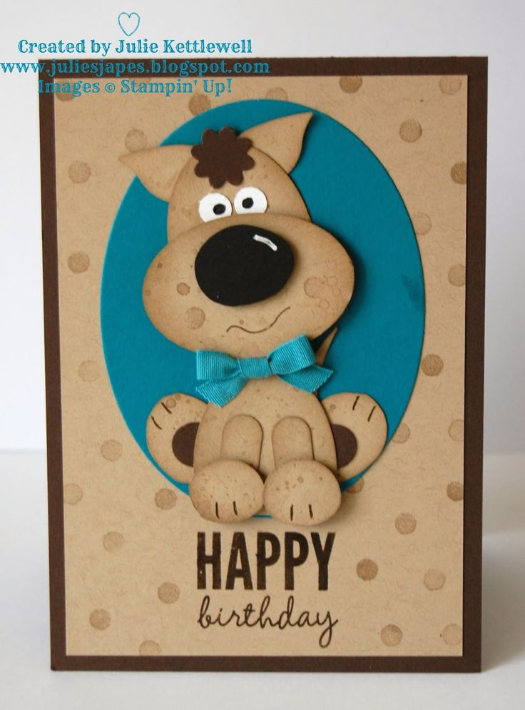 Stampin' Up! UK Order Online 24/7 - Julie Kettlewell: Punch Art Doggy!
