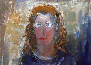 Retrato de Maria João Fernandes pelo pintor Jaime Isidoro óleo sobre tela