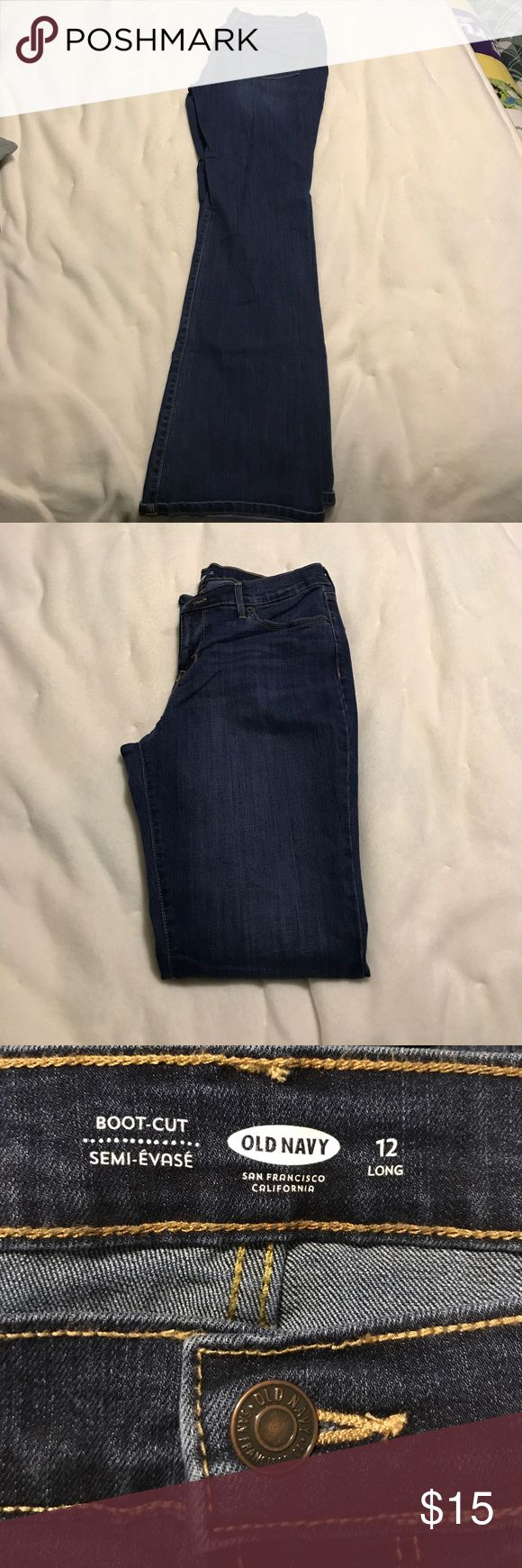 Old Navy Jeans Women's boot cut Old Navy jeans.  Size 12 long.  Worn only once. Old Navy Jeans Boot Cut
