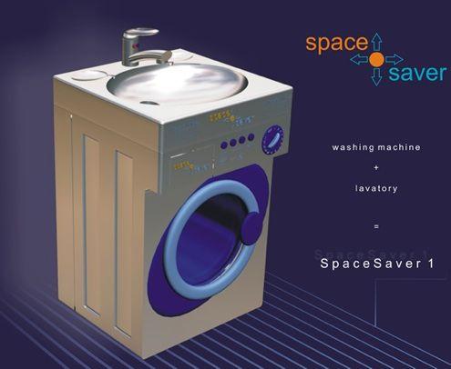 New fun cool bathroom toilet gadgets washing machine sink combo washing machine sink combo saves - Cool bathroom inventions ...
