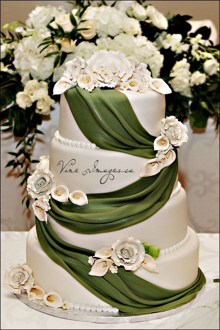 25 Best Ideas About Green Wedding Cakes On Pinterest Green Big Wedding Cak