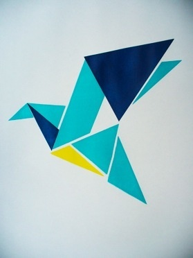 Screenprint - but ripe for re-invention through felt applique for new kitchen.