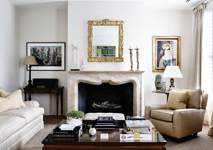 Adelaide Bragg & Associates #interiordesign #adelaidebragg #design #innercity #homedecor #apartment #sittingroom #fireplace #upholsteredfurniture