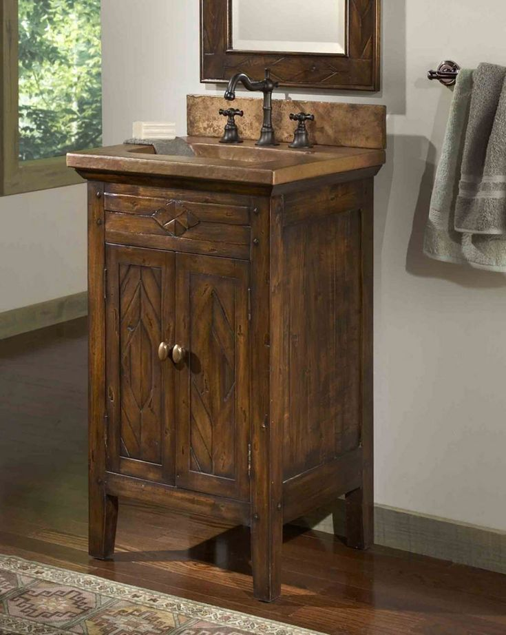 Small Rustic Bathroom Vanity - Best Interior Wall Paint Check more at http://www.freshtalknetwork.com/small-rustic-bathroom-vanity/