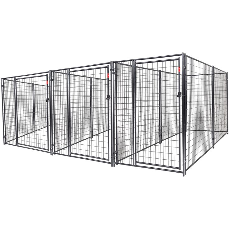 Lucky Dog Heavy Duty Dog Kennel 3 run w/common wall - Walmart.com