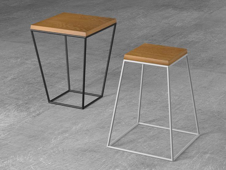 Frustum Table - pomocí malé nebo velké dřevěné desky vytvoříte ze stojanu na květiny odkládací stolek. Více druhů dřeva...