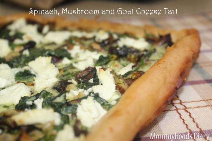 mushroom cheese spinach mushroom pizza tarts tarts pies cook buy food ...