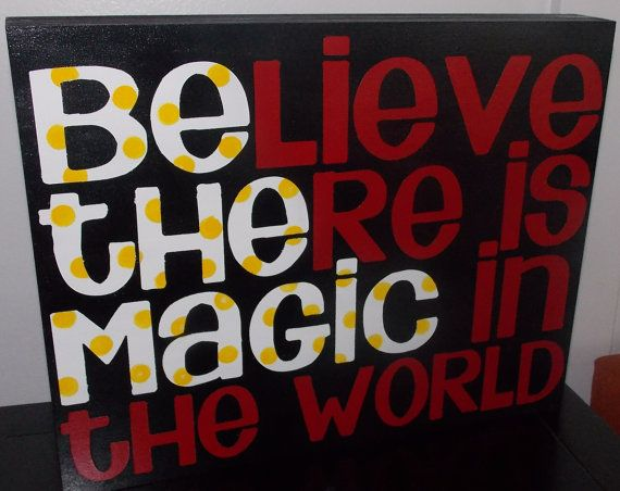 Be The Magic Disney Sign by createexpectations on Etsy