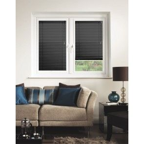 Satin Black Perfect Fit Venetian Blinds