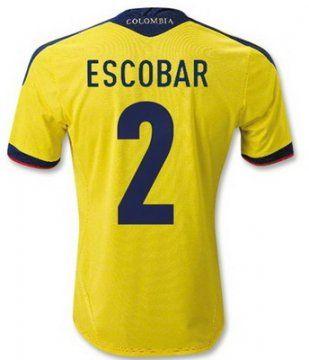 camisetas Escobar seleccion colombia 2014 primera equipacion  http://www.activa.org/5_2b_camisetasbaratas.html http://www.camisetascopadomundo2014.com/